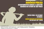 Luiz Fernando Teixeira e vereador Édio Lopes realizam audiência pública sobre assentamentos rurais e a questão agrária no estado de SP