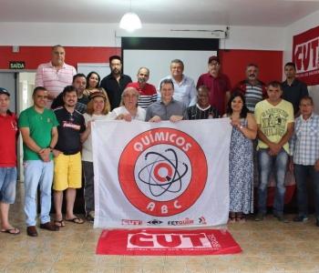 Deputado Luiz Fernando faz análise de conjuntura com dirigentes do Sindicato dos Químicos de SBC