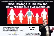 Deputado realiza Audiência Pública para debater a Segurança Pública de São Bernardo