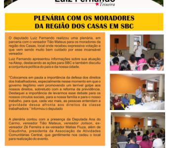 Boletim Prestação de Contas Casas e Região