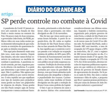 DGABC: SP perde controle no combate à Covid