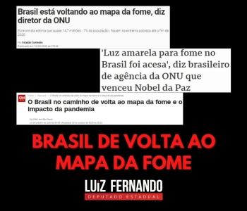 Brasil caminha para retornar ao Mapa da Fome