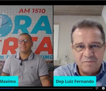 Participação no Jornal Hora Certa, da Rádio Cacique de Santos