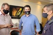 Vereador Eduardo Leite e deputado Luiz Fernando buscam solução com o Comando da PM do ABC