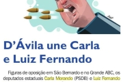 D'Ávila une Carla e Luiz Fernando
